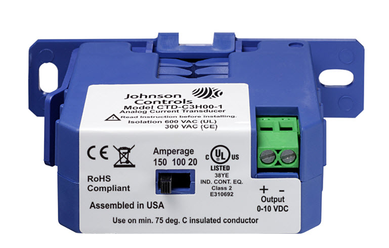 CTD-C3H00-1 - JOHNSON CONTROLS CURRENT TRANSDUCER DEVICES